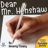 Dear Mr. Henshaw Novel Study Book Unit