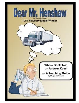 Dear Mr. Henshaw  Whole Book Test