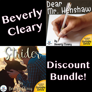 Dear Mr. Henshaw and Strider Novel Study Unit Bundle