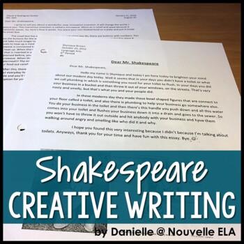 Shakespeare Friendly Letter - STEM Innovation