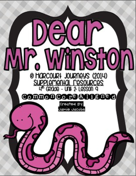 Dear Mr. Winston (Journeys 4th Grade - Supplemental Materials)