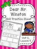 Dear Mr. Winston (Skill Practice Sheet)