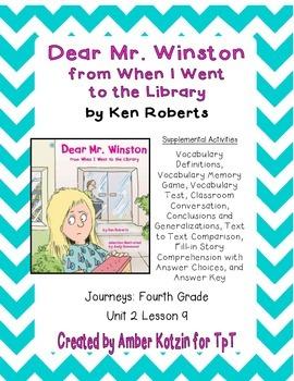 Dear Mr. Winston Supplemental Activities 4th Grade Journey