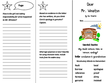 Dear Mr. Winston Trifold - Journeys 4th Grade Unit 2 Week 4 (2011)