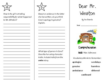 Dear Mr. Winston Trifold - Treasures 4th Grade Unit 2 Week 5 (2009)