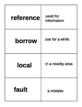 Dear Mr. Winston Vocabulary Flash Cards Journeys 2014 CC Edition