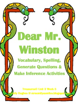 Dear Mr. Winton Vocabulay, Spelling, Inference & Questions Activities