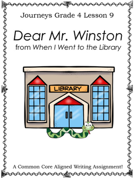 Dear Mr. Winston from When I Went to the Library-Writing P