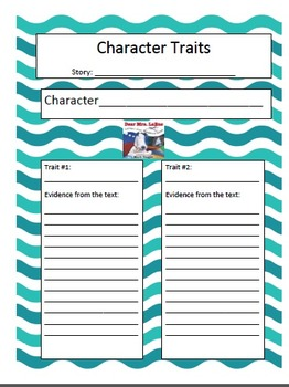 Dear Mrs. LaRue Character traits