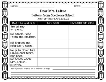 Dear Mrs. LaRue- Point of View