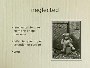 Dear Mrs. LaRue - Treasures Unit 3 Vocabulary
