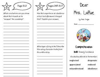 Dear Mrs. LaRue Trifold - Treasures 4th Grade Unit 3 Week 2 (2011)