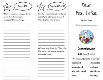 Dear Mrs. LaRue Trifold - Treasures 4th Grade Unit 4 Week 1 (2009)
