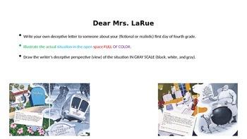 Dear Mrs. LaRue Writing Task