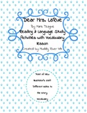 Dear Mrs. LaRue by Mark Teague reading activities with vocabulary