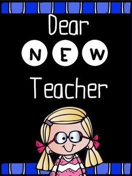 Dear New Teacher! Back to School Activities!