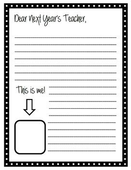 Dear Next Year's Teacher