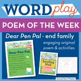 Dear Pen Pal - end Word Family Poem of the Week - Short Vowel E Fluency Poem