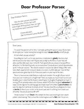 Dear Professor Parsec/Estimado Profesor Parsec