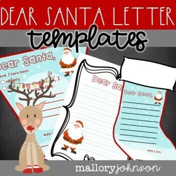 Dear Santa Christmas List and Letter Packet