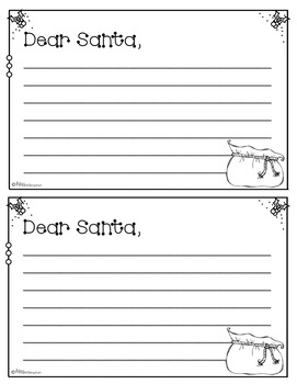 Dear santa craft and writing templates by miss for Dear santa template kindergarten letter