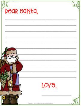 FREE Dear Santa & Dear Elf Letters: Write a Letter to Santa or an Elf