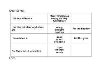 Dear Santa (Errorless Writing)