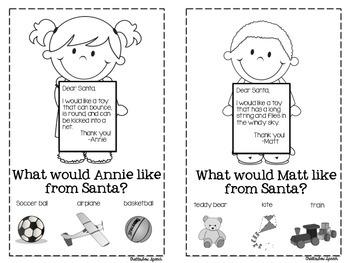 Dear Santa... Freebie! No Prep, Vocabulary Guessing Game Mini-Books