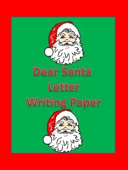 Dear Santa Friendly Letter Christmas Writing Sheet ** FREE **