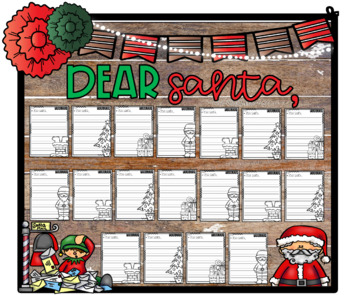 Dear Santa, Friendly Letter Step-Up Paragraph Packet