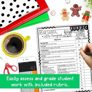 Dear Santa, Friendly Letter Step-Up Paragraph Packet