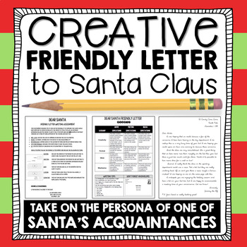 Christmas Writing: Santa Friendly Letter