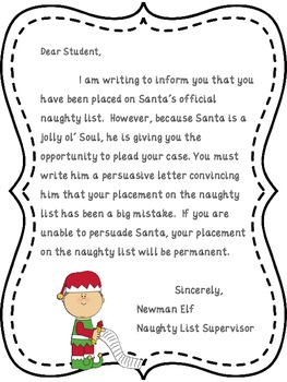 Persuasive Writing Prompt and Graphic Organizers - Dear Santa, I Can Explain