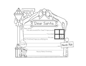 Dear Santa Letter Form