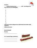 Dear Santa Letter Student Fill-in