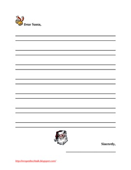 Dear Santa Letter Template FREEBIE By Mrs Ps Ed Tech Talk TpT - Dear santa letter template