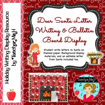 Dear Santa Letter Writing Paper  and Bulletin Board Poster FREE