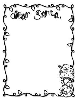 Dear Santa Letter Writing Activity *FREEBIE*