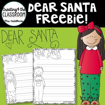 Dear Santa Letter Template {Writing Freebie}