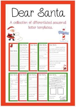 Dear Santa - Letter Writing Templates