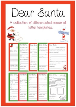 Dear Santa - Letter Writing Templates