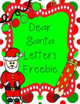 Dear Santa Letters Freebie Writing Prompts for Christmas & Wish List