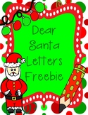 Dear Santa Letters Freebie Writing Prompts for Christmas &