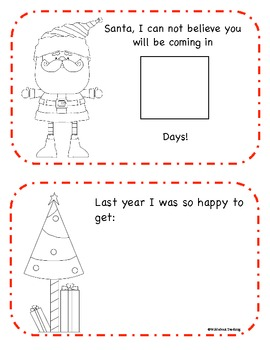 Dear Santa...  Mini Book