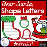 Dear Santa, Shape Letters  Freebie