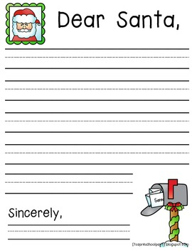 Dear Santa Writing Freebie