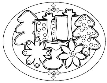 Plate Of Cookies Clipart Black And White