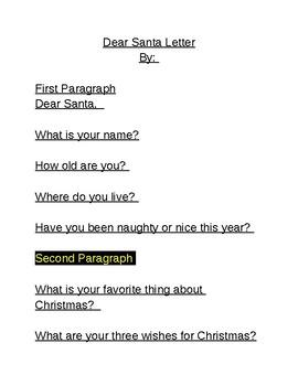 Dear Santa letter...