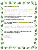 Dear Santa letter (persuasive reply from Santa)