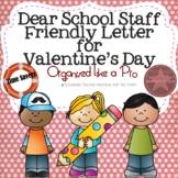Dear School Staff Friendly Letter